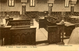 Oran - Temple Israélite , La Théba - Thème Judaica Judaisme Synagogue Synagoge Juif Juifs Jew Jewish Juden - Oran