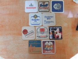 10 Sous-bocks Bières Allemandes  (box3-14) - Sous-bocks