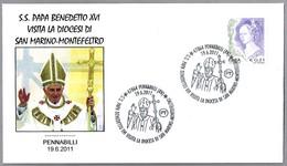Visita De BENEDICTO XVI A SAN MARINO-MONTEFELTRO. Pennabilli 2011 - Papas