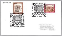 GRESTEN - MERIDIANPUNKT 15ºE/48ºN - MERIDIANO - MERIDIAN. Gresten 1988 - Geografía