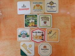 10 Sous-bocks Bières Allemandes  (box3-17) - Sous-bocks