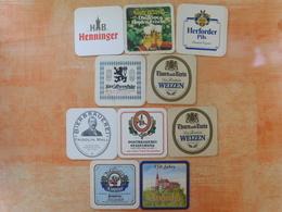10 Sous-bocks Bières Allemandes  (box3-18) - Sous-bocks