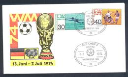 Germany 1974 Cover: Football Fussball Soccer Calcio: FIFA World Cup; Germany Champion Weltmaister Cancellation - Fußball-Weltmeisterschaft