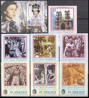 2003 St Vincent & Grenadines 5771-77+5778/B608 50 Years Of The Coronation Of Elizabeth II Golden Jubilee 18.00 € - St.Vincent (...-1979)