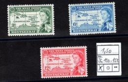 Montserrat, 1958, SG 150 - 152, Mint Hinged - Montserrat