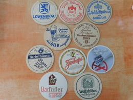 10 Sous-bocks Bières Allemandes  (box3-24) - Sous-bocks