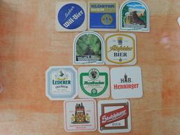 10 Sous-bocks Bières Allemandes  (box3-25) - Sous-bocks