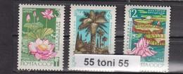 1966 Flora GARDEN SUHUMI Mi 3235/37 3v.-MNH USSR - Vegetales