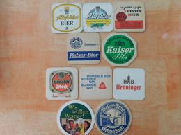 10 Sous-bocks Bières Allemandes  (box3-26) - Sous-bocks