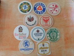 10 Sous-bocks Bières Allemandes  (box3-27) - Sous-bocks