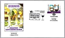 12 MESES - 12 SELLOS - BURGOS - MONASTERIO SANTO DOMINGO DE SILOS. SPD/FDC Burgos 2019 - Abadías Y Monasterios