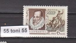 1966 Writer Miguel De Cervantes, Mi-3302  1v.-MNH   USSR - Escritores