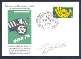 Germany 1974 Card: Football Fussball Soccer Calcio: FIFA World Cup 1954; Sepp Herberger; Wunder Von Bern; Autograph - Fußball-Weltmeisterschaft