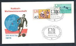 Germany 1974 Cover: Football Fussball Soccer Calcio: FIFA World Cup; Frankfurt Cancellation - Fußball-Weltmeisterschaft