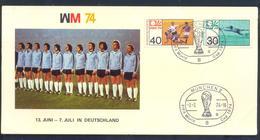 Germany 1974 Card: Football Fussball Soccer Calcio: FIFA World Cup; Germany Team Weltmmeister; München Cancellation - Fußball-Weltmeisterschaft