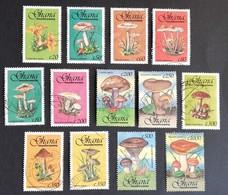 Ghana  1993  Mushrooms LOT USED - Ghana (1957-...)