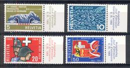 LIQUIDATION TOTALE : 1964 - Zu 406/409 - Mi N° 791/794 - Yv N° 726/729 - ** (MNH) Et Oblitérés (o) + 2 Documents - Suisse