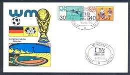 Germany 1974 Card: Football Fussball Soccer Calcio: FIFA World Cup; München Cancellation; Olympistadion - Fußball-Weltmeisterschaft
