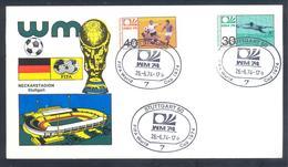 Germany 1974 Card: Football Fussball Soccer Calcio: FIFA World Cup; Stuttgart Cancellation; Neckarstadion - Fußball-Weltmeisterschaft