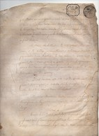 Manuscrit Partie D'Acte Notarié Notaire Porcher Vingt Vendémiaire An 13 1804 Cachet Robillard Berthevin Orléans 4 Pages - Manoscritti