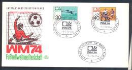 Germany 1974 Card: Football Fussball Soccer Calcio: FIFA World Cup; Frankfurt Cancellation; - Fußball-Weltmeisterschaft