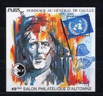 France Bloc CNEP N° 21 ** Neuf MNH Superbe HOMMAGE AU GENERAL DE GAULLE Personnalité PARIS 95 - CNEP