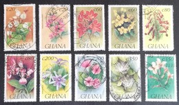 Ghana  1993 Flowers USED - Ghana (1957-...)