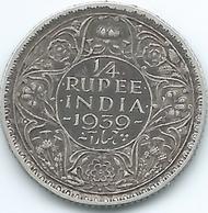 India - George VI - 1939 - ¼ Rupee - KM544 - Bombay Mint - Inde