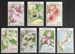 Ghana  1990 Orchids LOT M.N.H. - Ghana (1957-...)