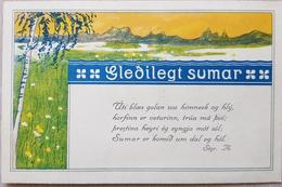 Iceland 1915 Brjefspjald - Islanda