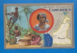 COLONIES FRANÇAISES - PUBLICITÉ ED. PRODUITS LION NOIR - CHROMO : LE CAMEROUN - Ohne Zuordnung