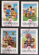 Ghana  1980 Intl. Year Of The Child Overprinted PAPA VISIT  USED - Ghana (1957-...)