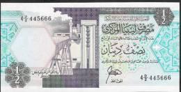 LIBYA   P53   1/2   DINAR    1990      UNC. - Libië
