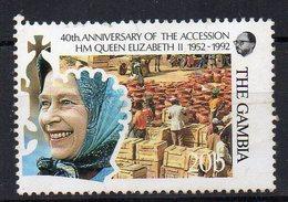 GAMBIE - GAMBIA - REINE ELIZABETH - 40éme ANNIV. ACCESSION AU TRONE - MARCHEE AUX POTERIES - 1992 - - Gambie (1965-...)