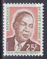 Elfenbeinküste Ivory Coast Cote D'Ivoire 1974 Geschichte History Persönlichkeiten Präsident Houphouet-Boigny, Mi. 453 ** - Costa D'Avorio (1960-...)