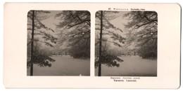 Stereo-Fotografie Neue Photogr. Gesellschaft, Berlin-Steglitz, Ansicht Warschau, Lazienki-Palast Im Winter - Stereo-Photographie