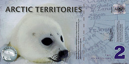 ARCTIC 2  Polar Dollar 2010 POLYMER  UNC  Phoque - Specimen