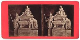 Stereo-Foto Unbekannter Fotograf, Ansicht Florenz, Dante Alligheri - Stereoscopio