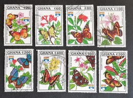 "Ghana  Butterflies Genoa""92 USED - Ghana (1957-...)"