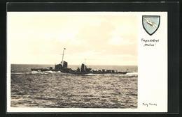 AK Torpedoboot Möwe Der Kriegsmarine In Fahrt - Krieg