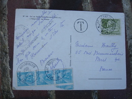 Lettre Taxee Bande De 3 Timbre Gerbe Gerbes 2 F Provenance Suisse - Lettres Taxées