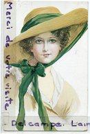 - Art Nouveau - Martin-Kavel, Magnifique Femme Au Chapeau, Signée, épaisse, Non écrite, BE,scans. . - Illustrateurs & Photographes