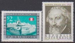 Österreich 1974 Nr.1464 +1465 ** Postfr.50J.Österreischicher Rundfunk,25.Todestag E.Eysler( 9184) Günstige Versandkosten - 1945-.... 2. Republik
