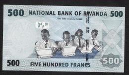 RWANDA   P38   500  FRANCS    2013 Prefix  #AD.     UNC. - Rwanda