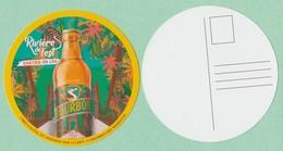 Sous-bocks / Carte Postale Plastifiée Brasseries BOURBON La Réunion ** Neuf ** Biere Birra Cerveza Piwo Pilsen - Sous-bocks