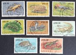 Ghana  1992 Reptiles USED - Ghana (1957-...)