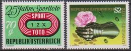 Österreich 1974 Nr.1468 - 1469 ** Postfr. 25 Jahre Sporttoto, Umweltschutz ( 9190) Günstige Versandkosten - 1945-.... 2. Republik