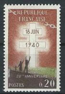 "FR YT 1264 "" Appel Du Général De Gaulle "" 1960 Neuf** - France"