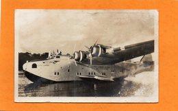 CARTE DE 1945 - 40 - BISCARROSSE - HYDRAVION - SEAPLANE -  LE YANKEE KLIPPER SUR LE LAC - Biscarrosse