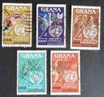 Ghana  1991 UN D P 40th. Anniv. USED - Ghana (1957-...)